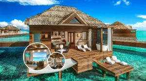 sandals over water bungalows