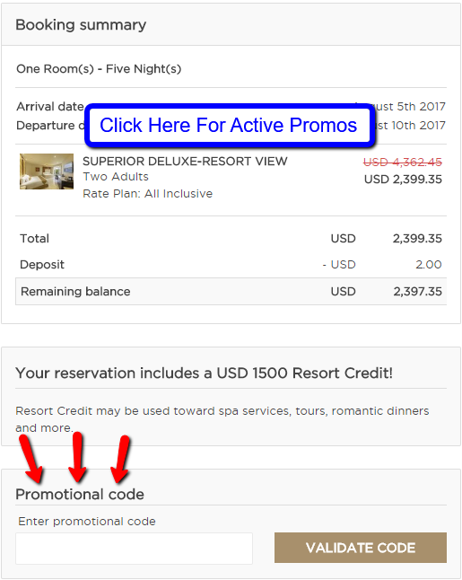 palace resorts coupon