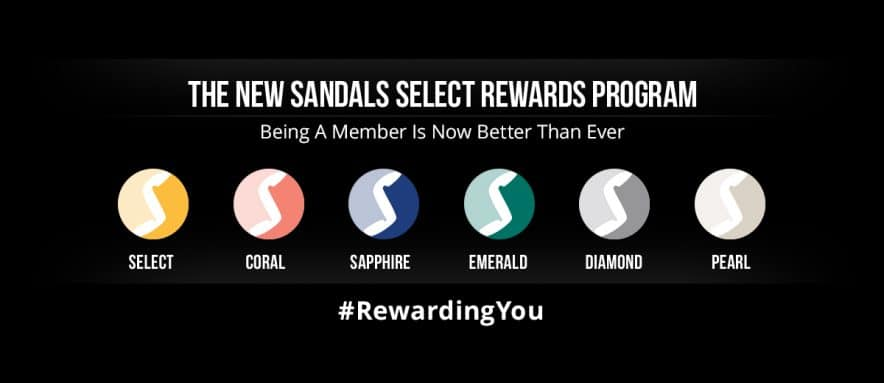 Your Guide to the New Sandals Select Rewards Program